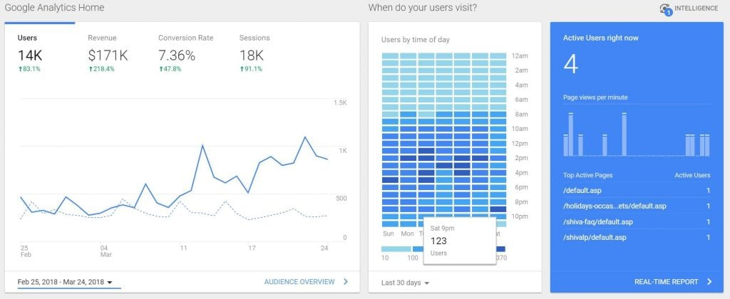 Google Analytics Data